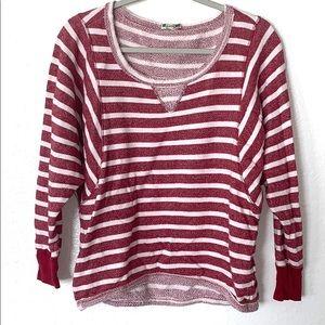 Breton strip sweatshirt red white Small (L)